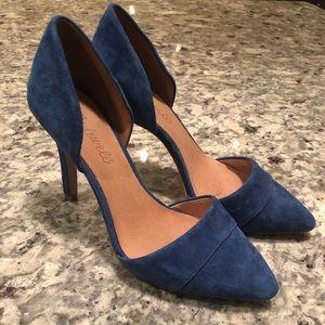 Madewell suede pumps / heels